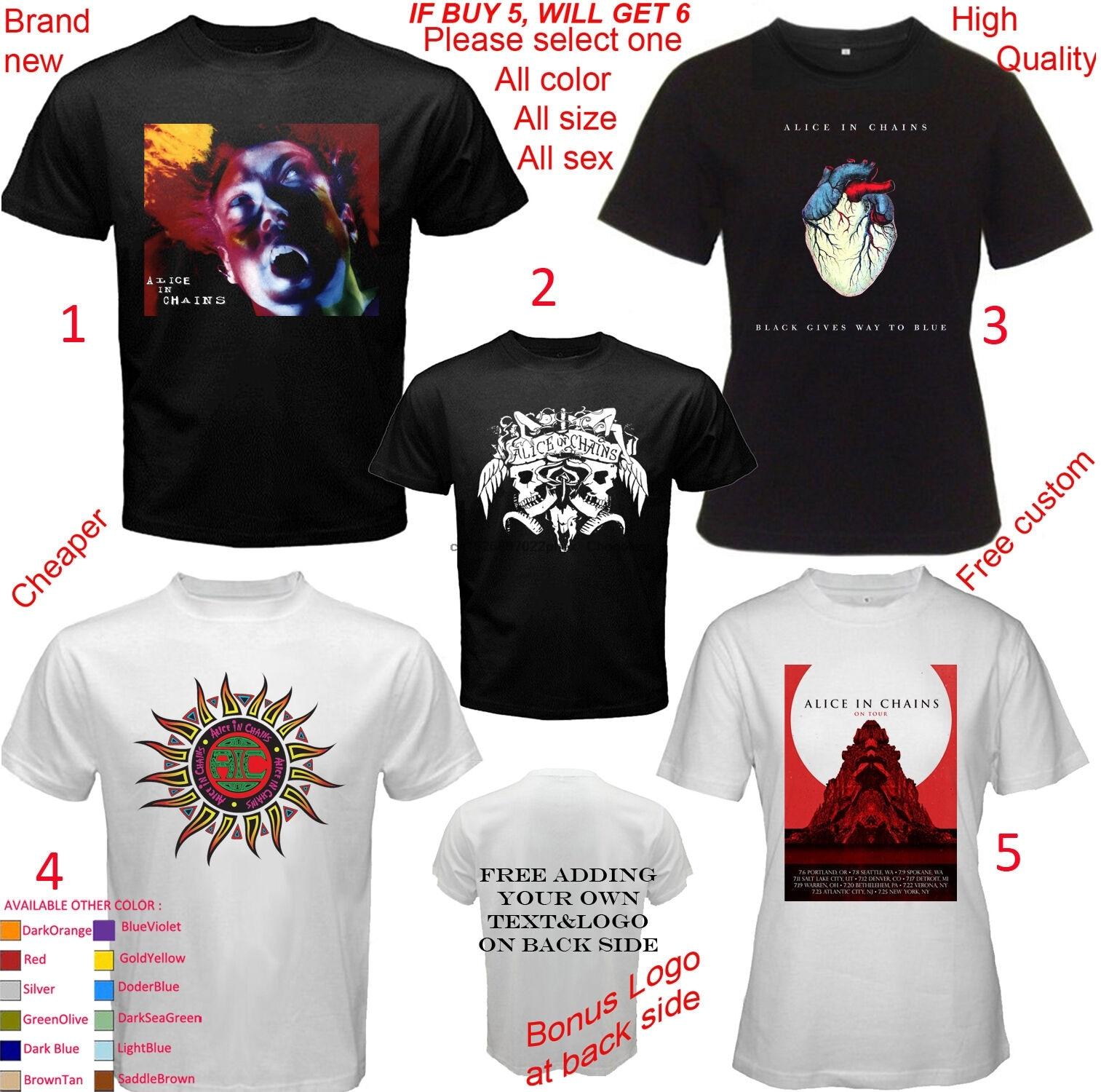 Alice em correntes concerto álbum camiseta todos os tamanhos adulto sml 5xl 5xl crianças da juventude