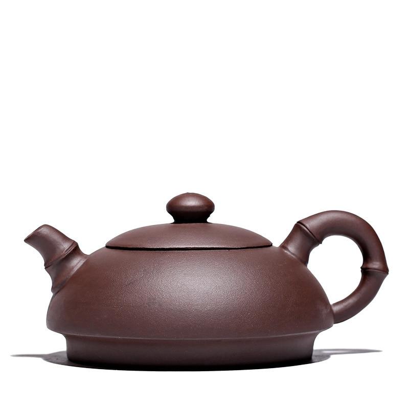 Mud red purple clay yixing tea pot raw ore handmade authentic teapot bamboo kettle teaware