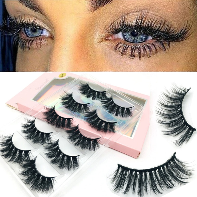 5 Pairs 3D Fake Mink Hair False Eyelashes Natural Long Eye Lashes Handmade Thick Crisscross Eyelashes Extension Eye Makeup Tools недорого