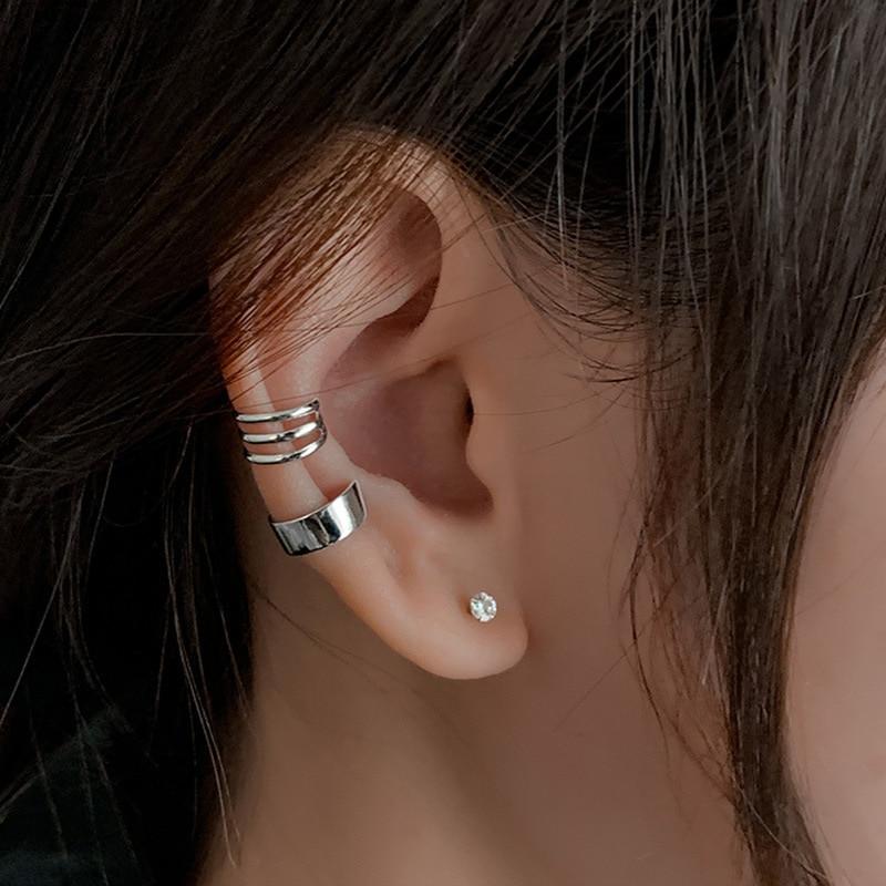 aliexpress.com - 2Pcs Simple Smooth Ear Cuffs Clip Earrings for Women No Piercing Fake Cartilage Earring Fashion jewelry