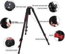 """Trípode ipetage, trípode de cámara de vídeo de fibra de carbono de 61 """"con cuenco rápido, carga máxima de 19,8 lbs, Compatible con Canon, Nikon, Sony"""