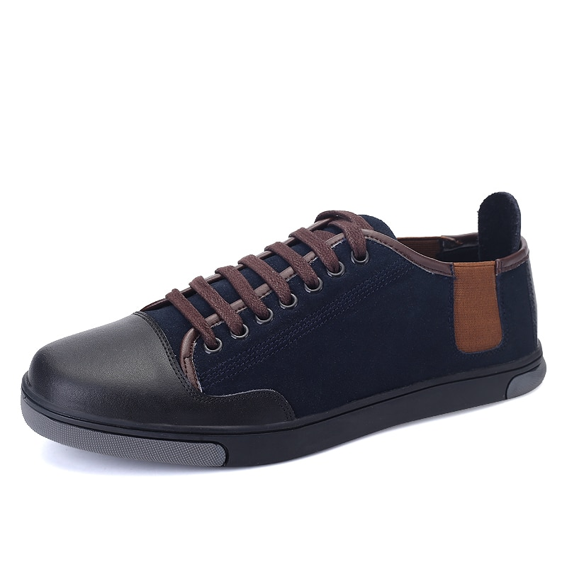 Zapatos para hombre, marca Social de alta calidad, moda Casual, zapatos de gamuza, calzado para adultos, ocio callejero suave, Tenis Masculino