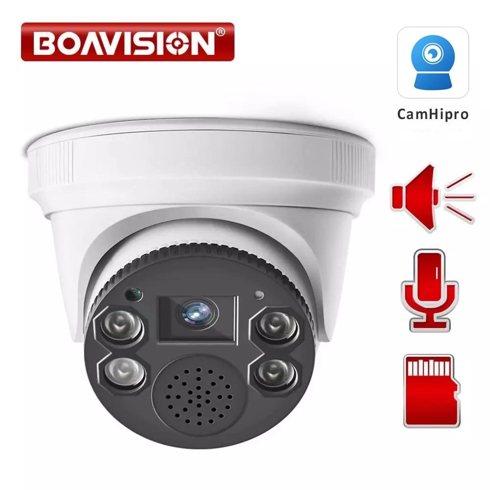 واي فاي كاميرا IP 1080P كاميرا بشكل قبة لاسلكية 2.0MP كاميرا الأمن اتجاهين الصوت TF فتحة للبطاقات للرؤية الليلية 20m P2P CamHipro