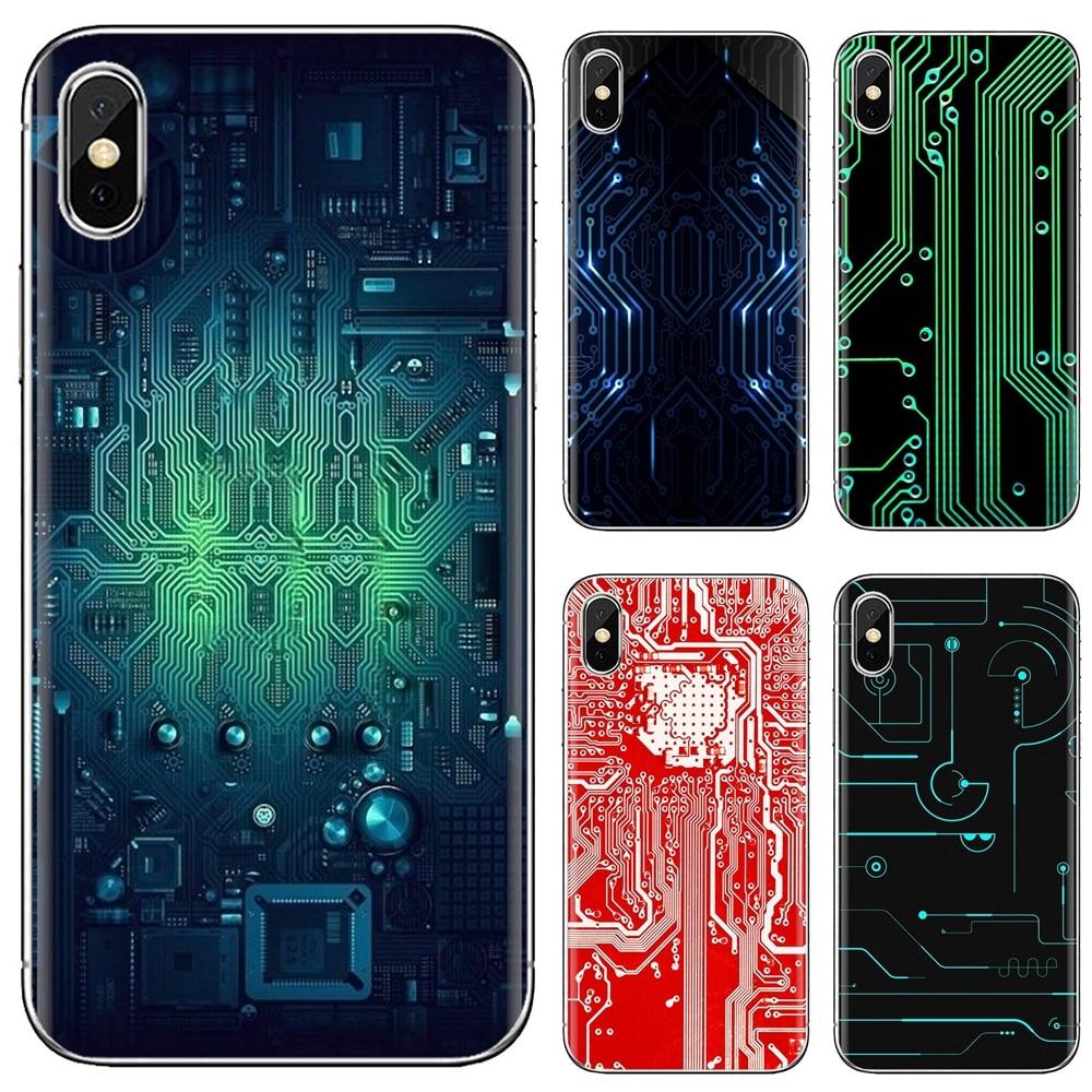 Para Samsung Galaxy J1 J2 J3 J4 J5 J6 J7 J8 Plus 2018 primer 2015 de 2016 2017 suave TPU cubierta de placa de circuito de alta tecnología de la placa base
