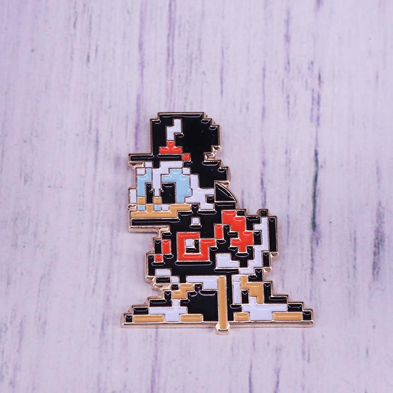 Scrooge McDuck Pixel cuenta arte esmalte pin