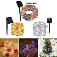 100 led solar light outdoor waterproof solar string lights fairy lamp holiday christmas party decor garden garland ligh