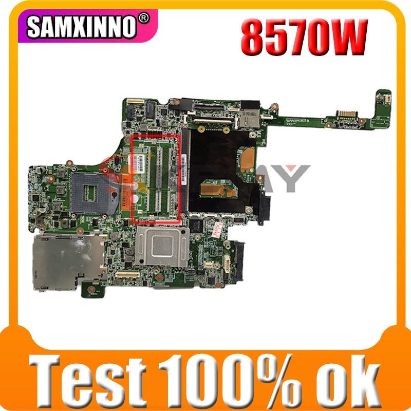 لوحة أم للكمبيوتر المحمول HP EliteBook 690642 وات 8570-001 لوحة أم بفتحتين لذاكرة SLJ8A DDR3 اختبار كامل