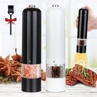 salt pepper grinder set electric spice flour mill grinder adjustable coarseness kitchen bbq tools seasoning tools pepper mill
