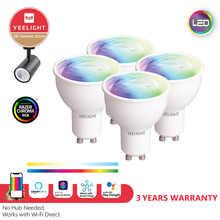Yeelight YLDP004-A GU10 Colorful Smart LED Bulb W1 Game Music Sync APP Voice Control Work Yeelight APP Google Assistant Alexa