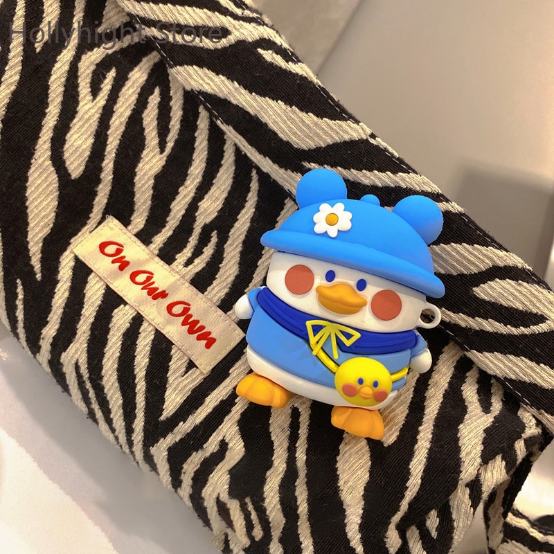 Airpod Case Protective1/2/3PRO  Hat duck for Apple wireless Bluetooth headset soft silicone cover for Instagram cute enlarge