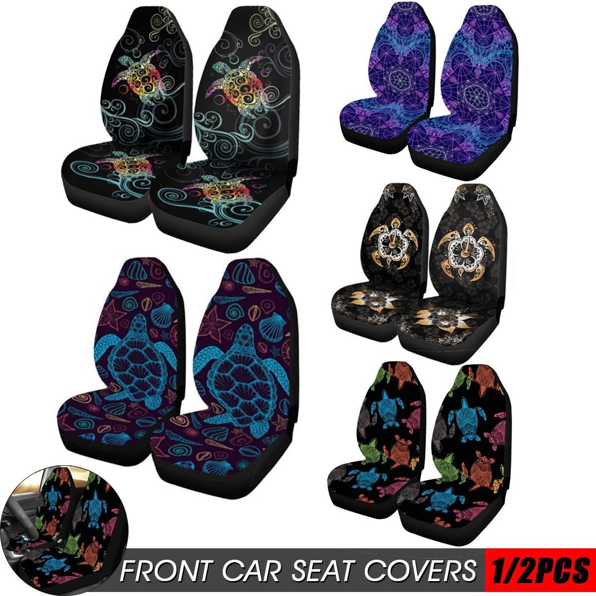 2 stücke Front Auto Sitz Abdeckung Automobil Sitz Protector Soft Stoff Mode Muster für Die Meisten Auto Autos SUV Lkw Van universal