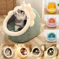 warm cat bed sweet pet basket cozy kitten lounger cushion cat house for washable cave cats beds tent soft small dog cat mat bed