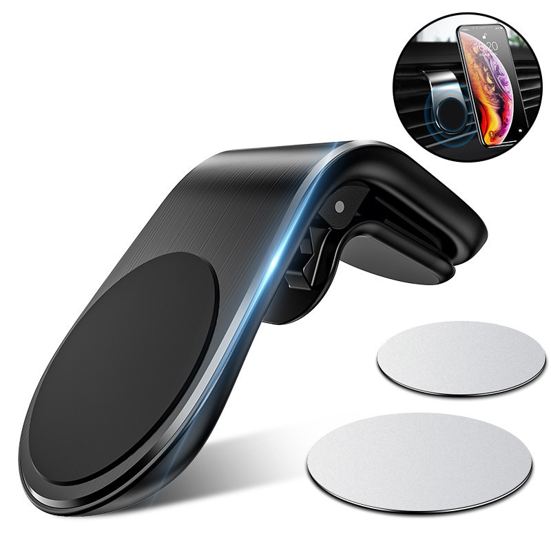 Soporte metálico para teléfono de coche 360 para iPhone 11 X en soporte magnético de ventilación de coche para tabletas Xiaomi mi9 Note10 soporte para teléfono GPS