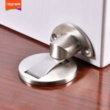 Mise à niveau aimant butée de porte en acier inoxydable bouchon de porte arrêt de porte magnétique toilette porte en verre caché arrêt de porte matériel de meubles