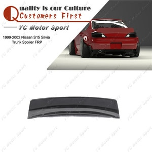 Car Accessories FRP Fiber Glass Body Kit Fit For 1999-2002 S15 Silvia  RB Style Rear Trunk Spoiler Wing