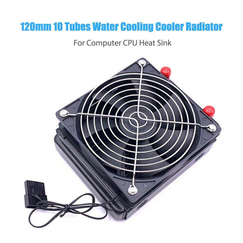 120 مللي متر رادياتير لتبريد للمياه 10 أنابيب وحدة المعالجة المركزية الكمبيوتر برودة مبادل حراري المبرد مروحة التبريد ل PC ملحقات التبريد