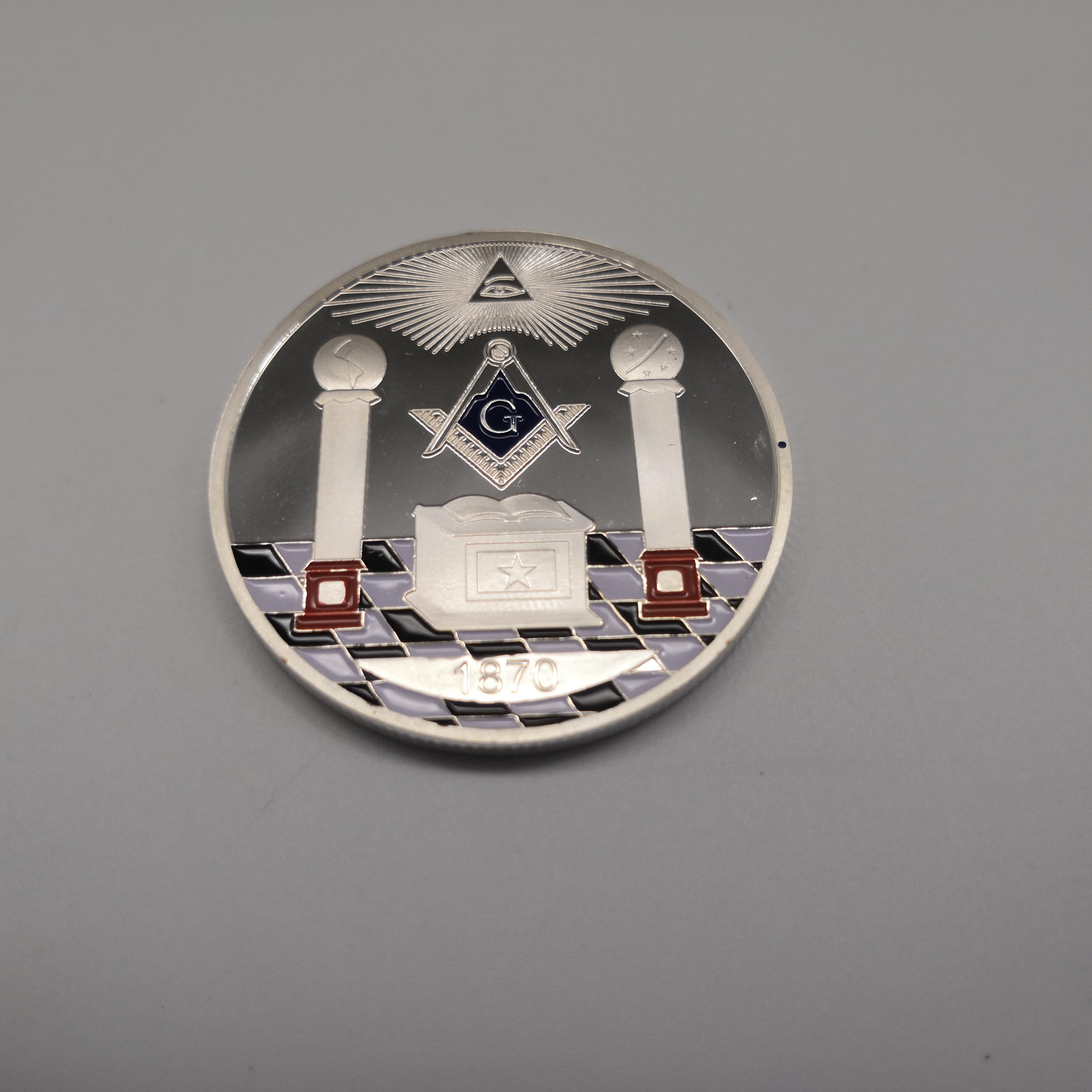 Moneda de la suerte de dragón antiguo chino, moneda de colección de plata de dragón de doble cara, regalos