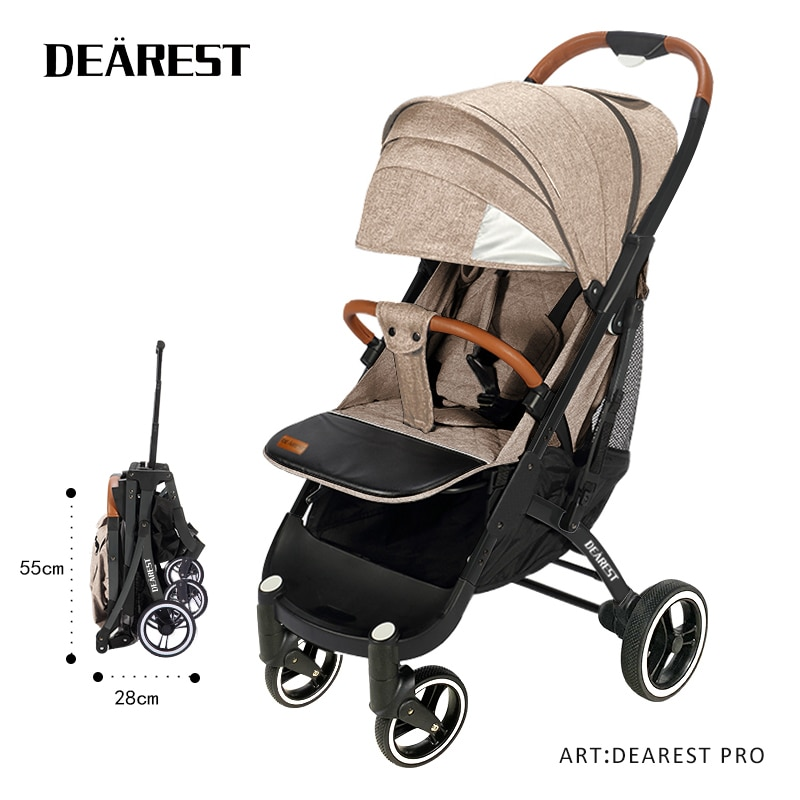 Dearest Pro Stroller New Professional Stroller With Reflective Strips And Non-slip Footrest Suitable For Walking