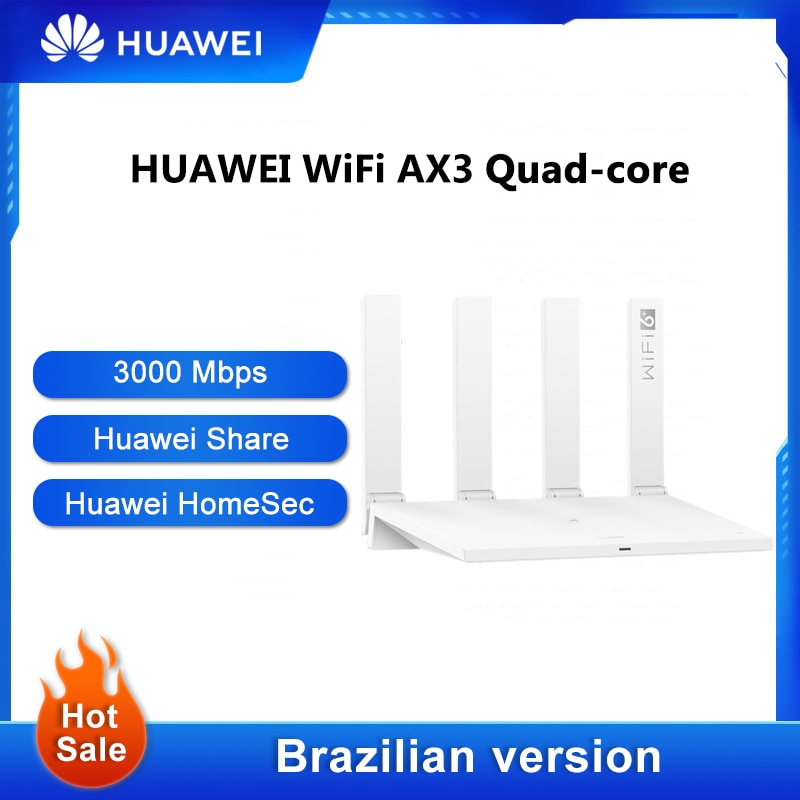 huawei roteador wi fi ax3 pro repetidor sem fio quad core 24 ghz 5 ghz wi fi 6 ate 3000mbps nfc
