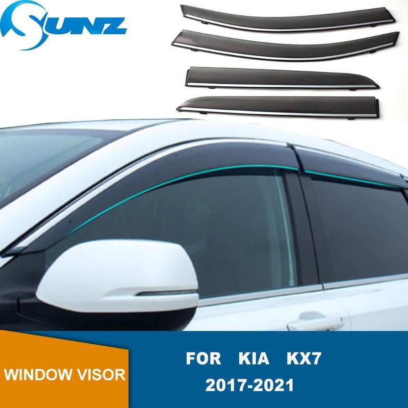 Side Window Deflector For Kia KX7 2017 2018 2019 2020 2021 Window Visors Rain Guard Vent Visor Smoke Vent Shade Accessories SUNZ