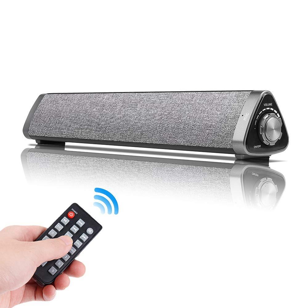 Barra de sonido Bluetooth de 10W con mando a distancia con cable e inalámbrico para cine en casa altavoces de TV soporte tableta del teléfono de PC TF tarjeta speake