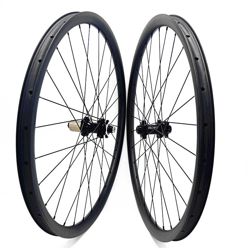 VTT 27.5 vtt carbone roues FASTace DA206 650B asymétrique 40x30mm AM tubeless disque roue roues de vélo 100x15 142x12