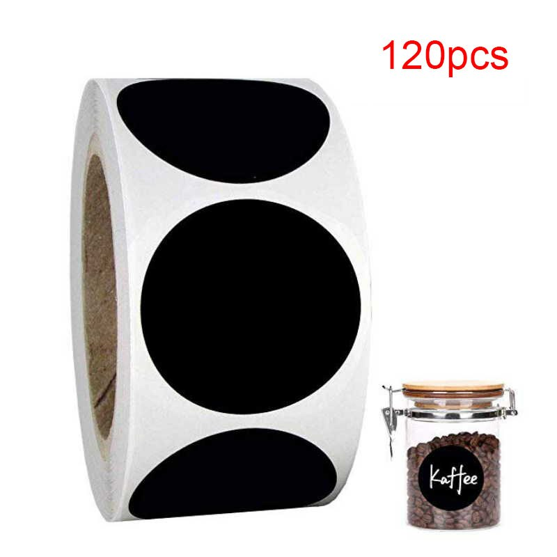 Etiqueta PVC etiquetas adhesivas de 2 pulgadas 120/rollo negro redondo/rectángulo 5,5x3,5 cm etiquetas adhesivas etiquetas de escritura