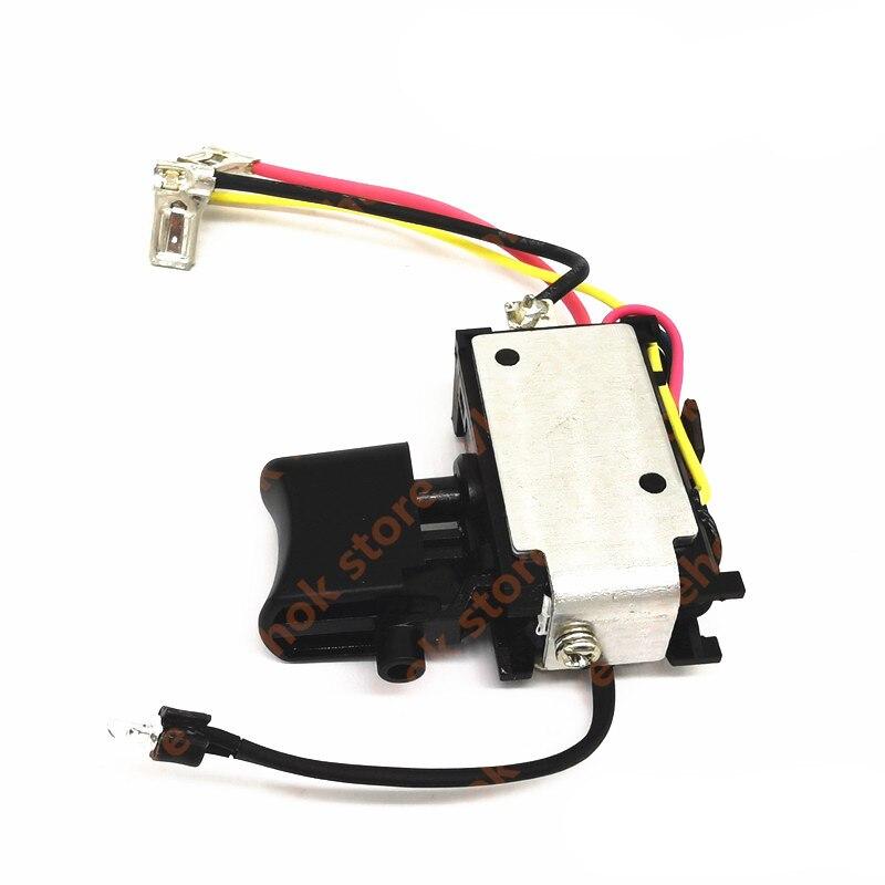 Interruptor genuino para Makita DF331D HP331D DF031D TD110D DF331 632J77-3 632F43-6 632F436 par de herramientas eléctricas