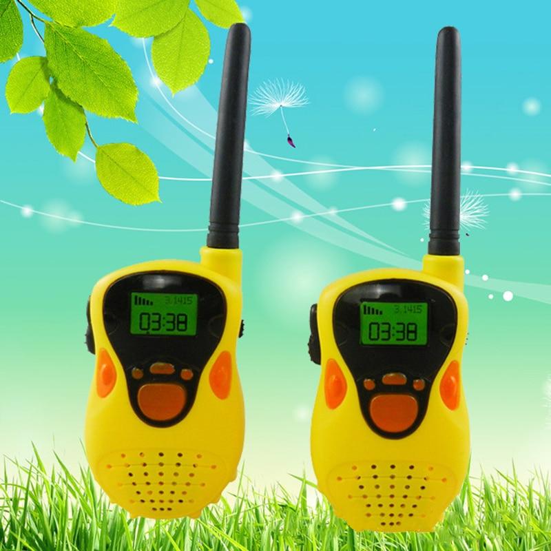 2 pcs 1 Pair Walkie Talkies toy Mini Handheld Portable Children Walkie Talkie Radio Outdoor Interphone Toy for Children Gifts