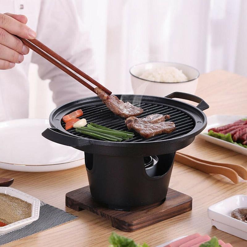 الإبداعية اليابانية نمط شخص واحد فرن طهي المنزل إطار خشبي الكحول موقد هدية صغيرة الشواء فرن شواء الكورية شواء