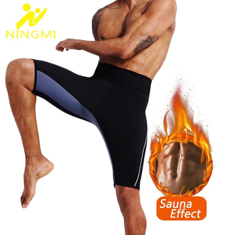 NINGMI, Legging deportivo para hombre, Neopreno, Sauna, faja de cintura de entrenamiento, pantalón adelgazante, bragas de Control corto, corsé moldeador de cuerpo, Fitness, ajustado
