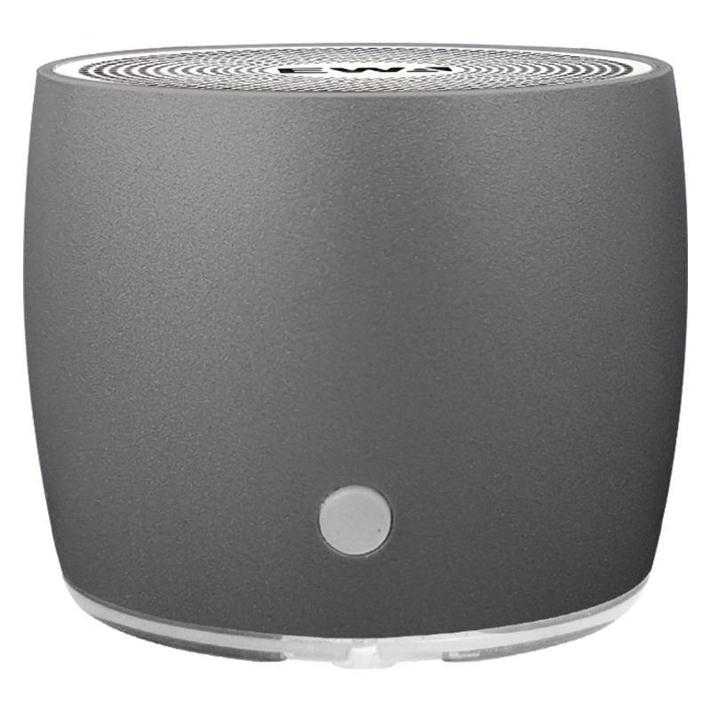 Altavoz portátil EWA para teléfono/tableta/ordenador Mini altavoz inalámbrico Bluetooth entrada USB metálico reproductor MP3-gris
