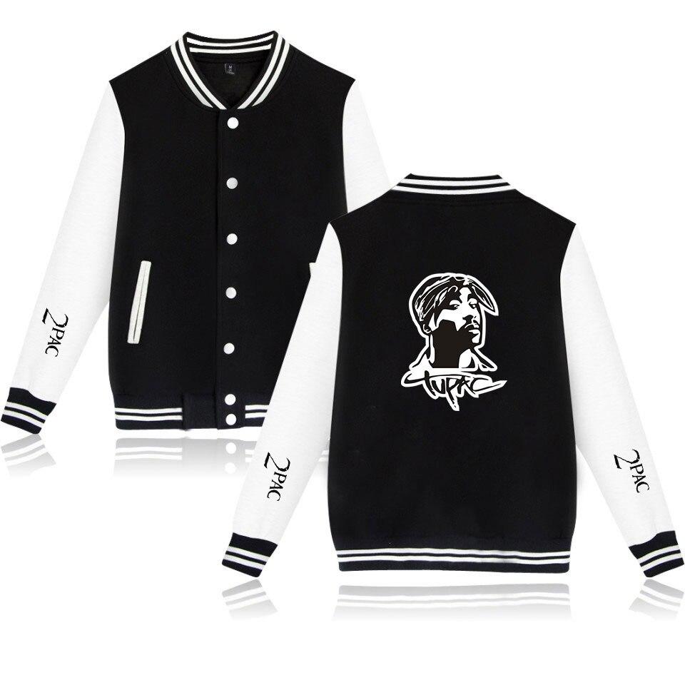 Jaqueta de beisebol dos homens jaqueta de beisebol do rapper 2pac bomber tupac amaru shakur makaveli streetwear casual agasalho hip hop uniforme de beisebol