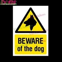 beware of the dog sign or sticker all sizes motocross racing laptop helmet trunk wall vinyl car sticker die cut waterproof pvc