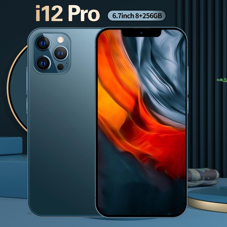 i12 Pro Smartphone 5G 4G LTE Deca Core 6.7Inch 4K HD Screen 6800mAh Battery Unlocking 32MP Rear Camera Mobile Phone
