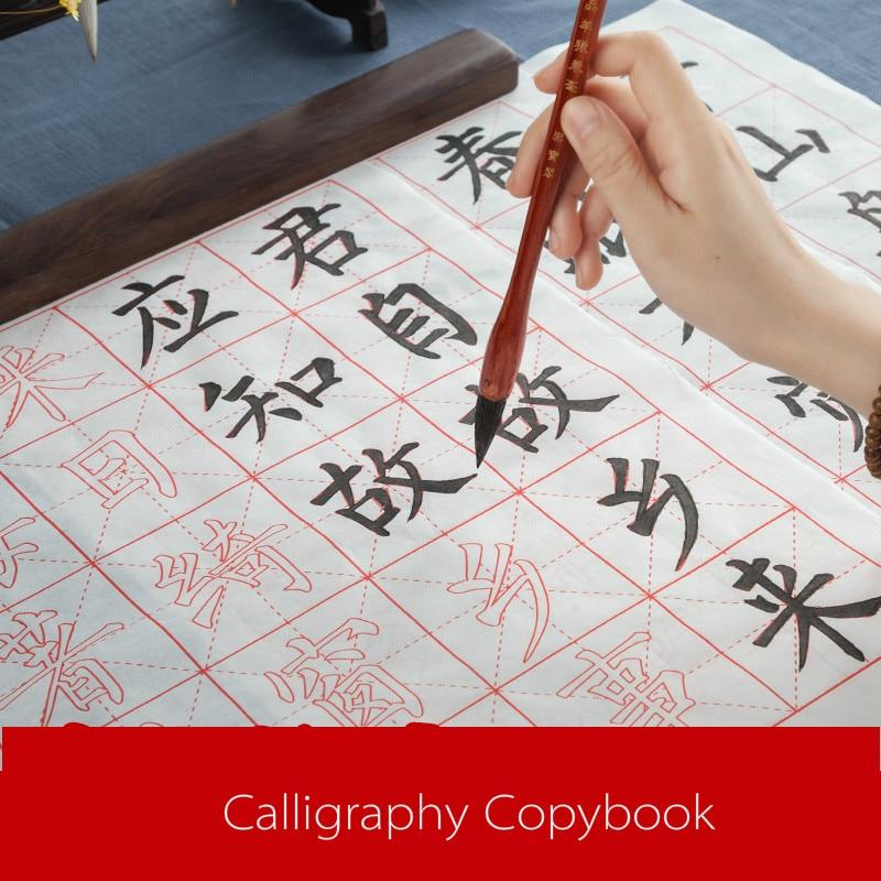 Chinese Medium Regular Script Calligraphy CopyBook Ouyang Xun Yan Zhenqing Character Basic Stroke of Practice for Beginners