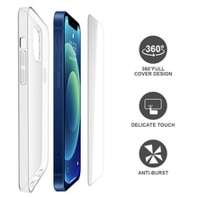 2 in 1 Mobile Phone Protection Accessories Set Clear Tpu Soft Case and Tempered Glass Screen Protect