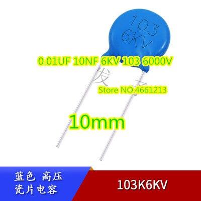 (30 piezas) (50 piezas) 6KV103M 0,01 UF 10NF 6KV 103, 6000 V, 10MM
