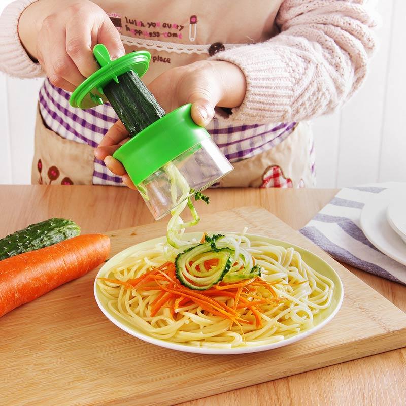 Zucchini Noodle Spaghetti Maker Spiral Blade Cutter Vegetable 1PC Carrot Cucumber Grater Fruit Spiral Slicer Salad Tools