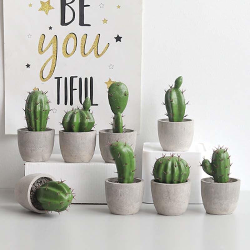 1 шт., искусственные растения, суккуленты, кактус, искусственные растения для стола, сада, украшение для дома вечерние праздничное украшение