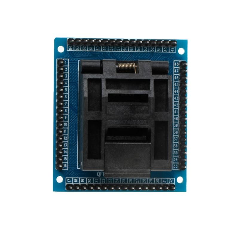 Test Socket Programming Adapter Conversion Block For 0.5m QFP64 TQFP64 LQFP64 IC