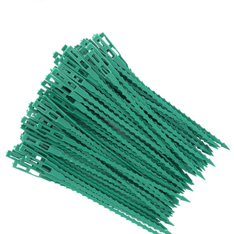 30/50 / 100pcs қайта пайдалануға болатын бақша кабельдік байланысы өсімдік тіреу бұталары бекіткіш ағаш құлыптау нейлон реттелетін пластикалық кабель байланысы құралдары