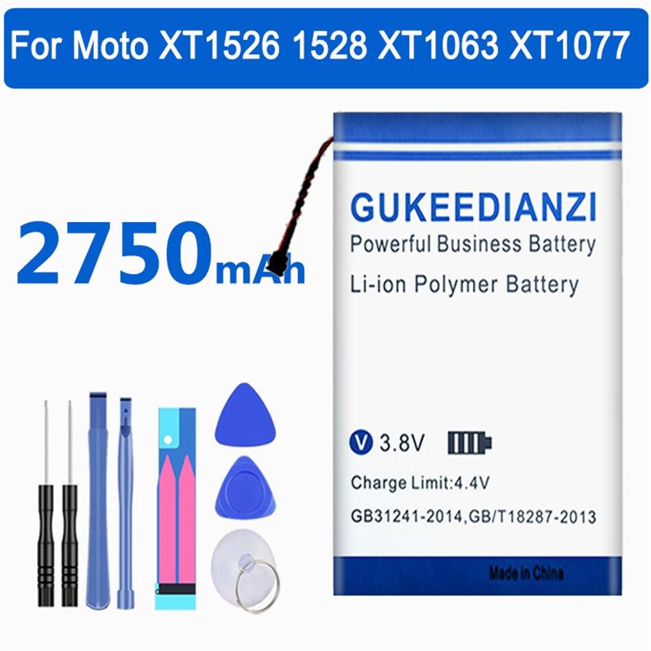 Batería GUKEEDIANZI FT40 reemplazo de la batería para Motorola Moto XT1526 XT1528...