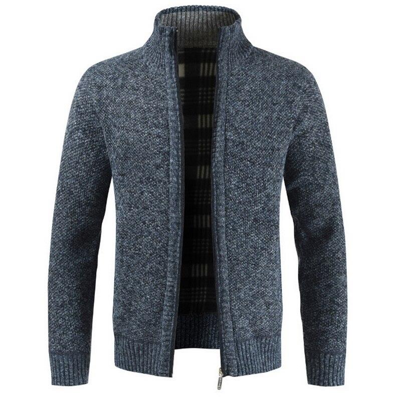 Мужской Повседневный Кардиган Jodimitty, теплый плотный деловой кардиган зауженного силуэта, вязаная верхняя одежда, теплый зимний джемпер