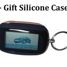 B92 LCD Remote Control Keychain + Silicone Case Gift For Two Way Car Alarm System StarLine B92 LCD R