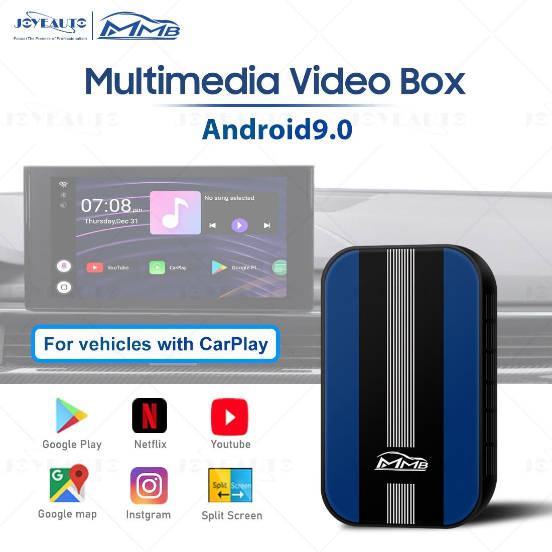 Universal MMB Android 9.0 Box Multimedia Video Box Autoradio Wireless Apple Carplay Netflix Player Car Play Dongle Accessories