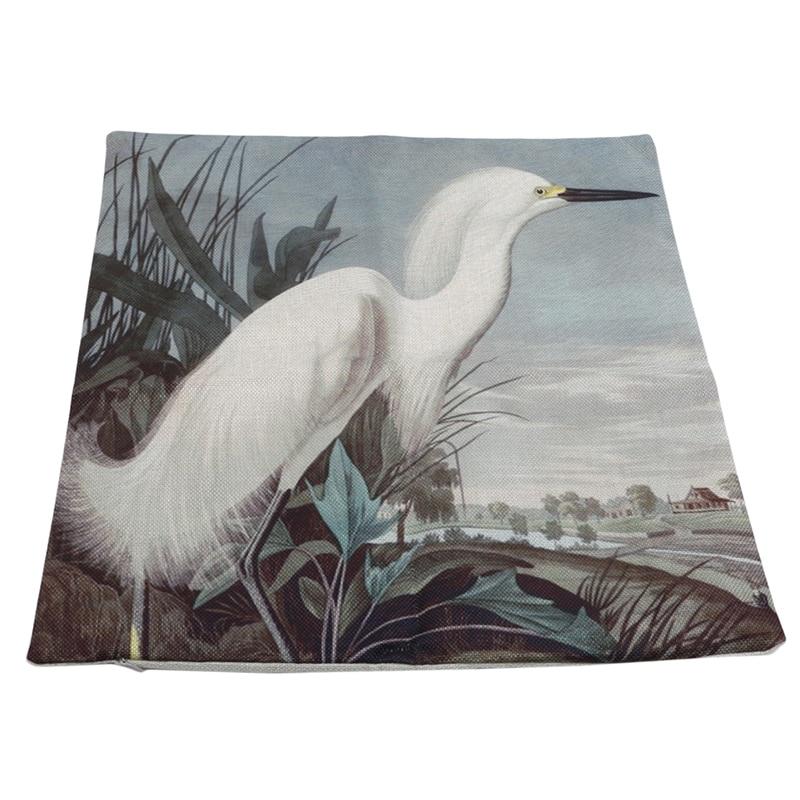 Impresión Digital de algodón y lino fundas de almohada de pájaro volador funda de almohada de lino sofá decoración del hogar funda de almohada