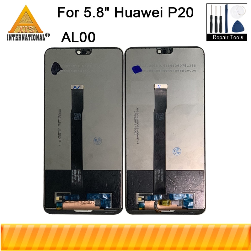 "Original 5,8 ""para Huawei P20 AL00 P20 EML L29 L22 L09 AL0 pantalla LCD pantalla + Digitalizador de Panel táctil + huellas botón de inicio + herramientas"