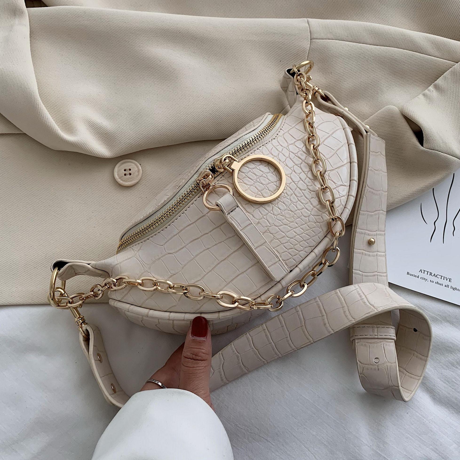 SWDF Simple Fashion Small PU Leather Crossbody Bags For Women 2021 Chain Shoulder Handbags Female Travel Cross Body Bag