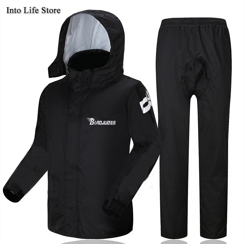 Motorcycle Rain Coat Women Rain Poncho Waterproof Golf Raincoat Men Gray Adults Rain Pants Set Outdoor Camping Rainwear Gift enlarge